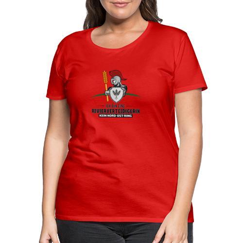 Revierverteidigerin rot - Frauen Premium T-Shirt