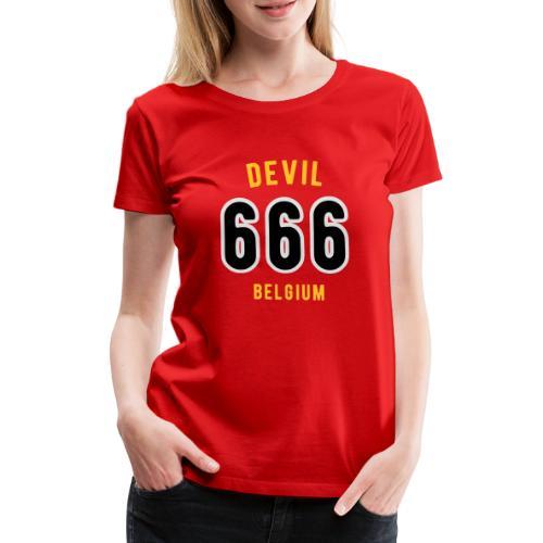 666 devil Belgium - T-shirt Premium Femme