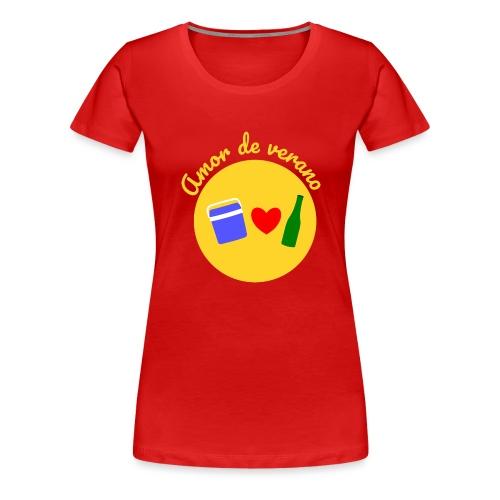 Amor de verano circulo - Camiseta premium mujer