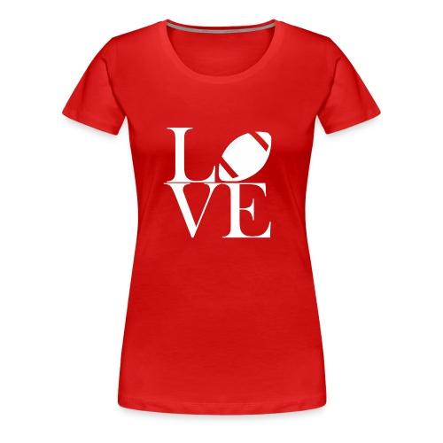 Love Symbol mit Football - Frauen Premium T-Shirt