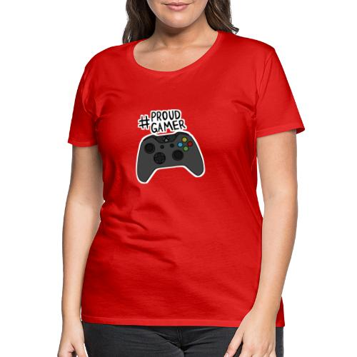 #proudxboxgamer - Naisten premium t-paita
