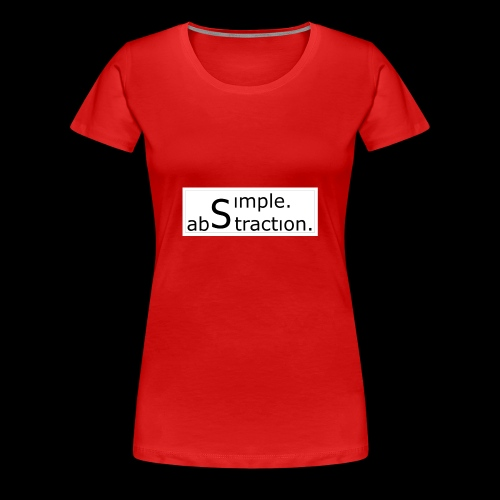logo simple. abstraction. s/w - Frauen Premium T-Shirt