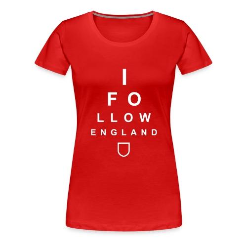 I Follow England - Eye Test (Women's T-shirt) - Women's Premium T-Shirt
