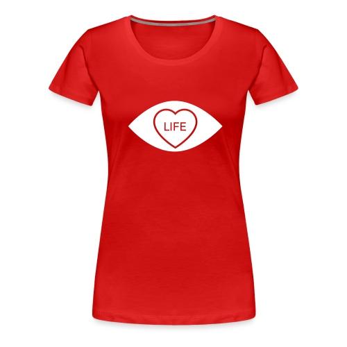 White Eye Love... Life Accessories - Women's Premium T-Shirt
