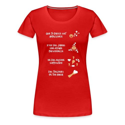 4 toltèques - T-shirt Premium Femme
