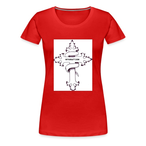 nyknation cross - T-shirt Premium Femme