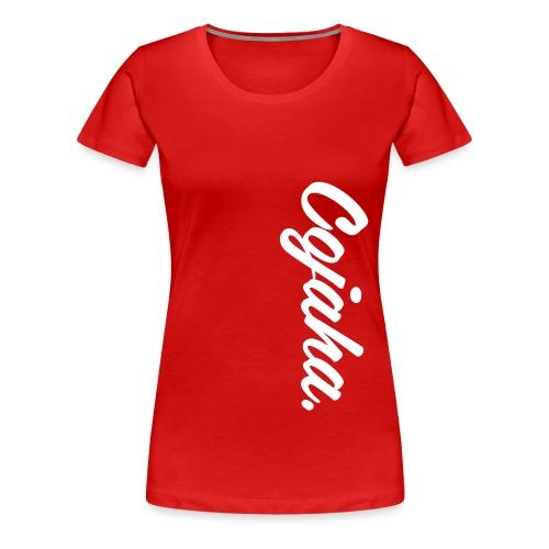 Cojaha. Logo White - Women's Premium T-Shirt