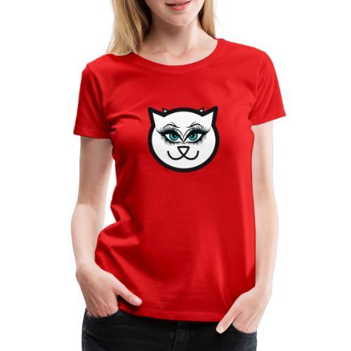 Hipster Cat Girl by T-shirt chic et choc - T-shirt Premium Femme