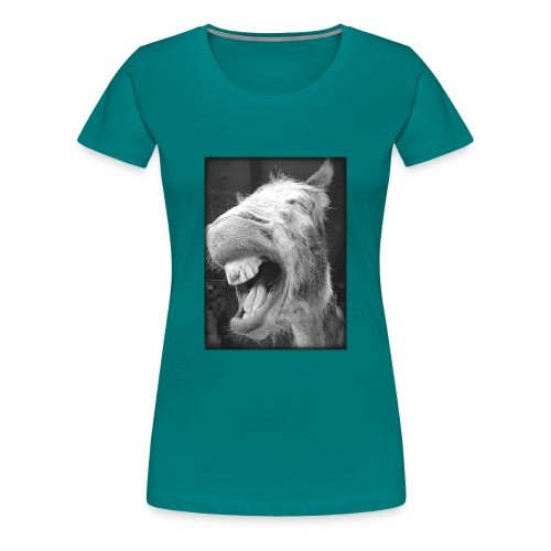 lachender Esel - Frauen Premium T-Shirt