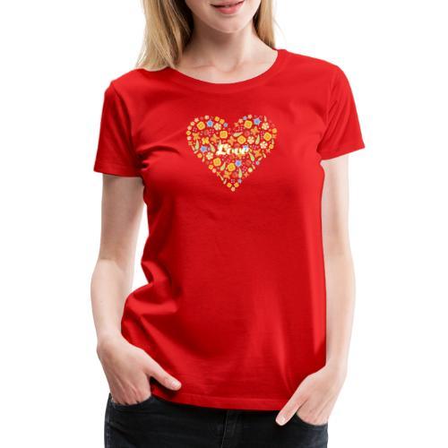 Herz aus Blumen - Summer Love - Frauen Premium T-Shirt