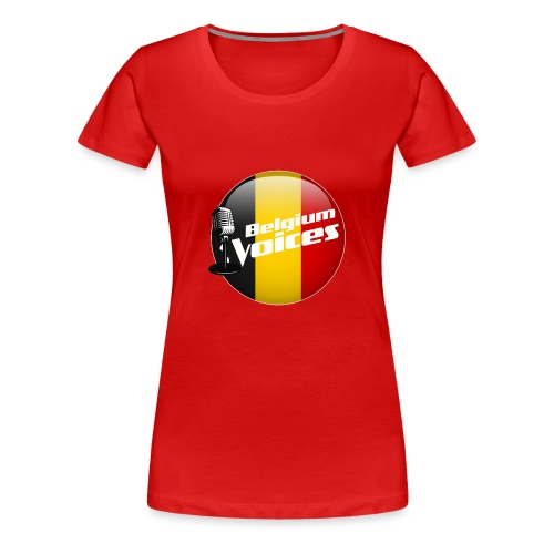 Je soutiens Belgium Voices - T-shirt Premium Femme