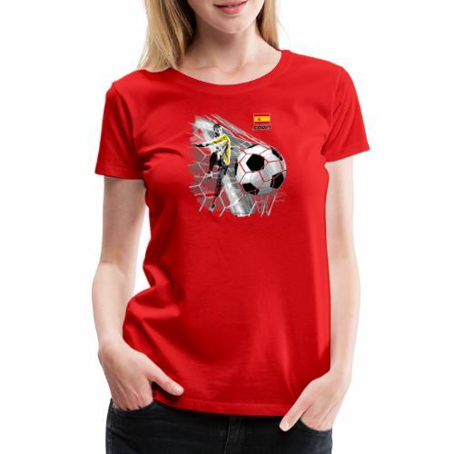 SPAIN FOOTBALL PRODUCTS - Espanya fútbol - Naisten premium t-paita