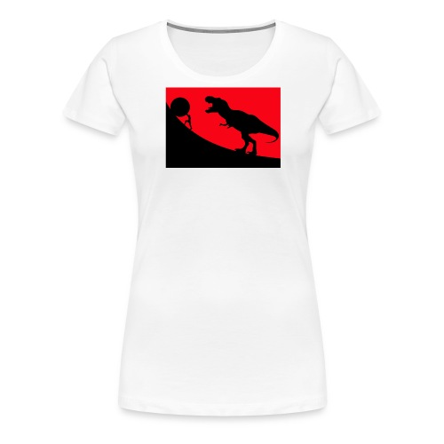 t rex red - Frauen Premium T-Shirt