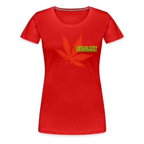 Hanfblatt-Raster (Aus Punkten) - Frauen Premium T-Shirt