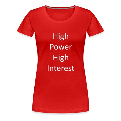 high power high interest - Women's Premium T-Shirt