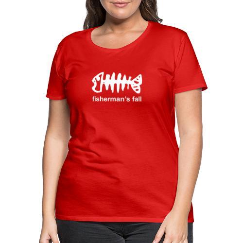 fisch mit fishermans - Frauen Premium T-Shirt