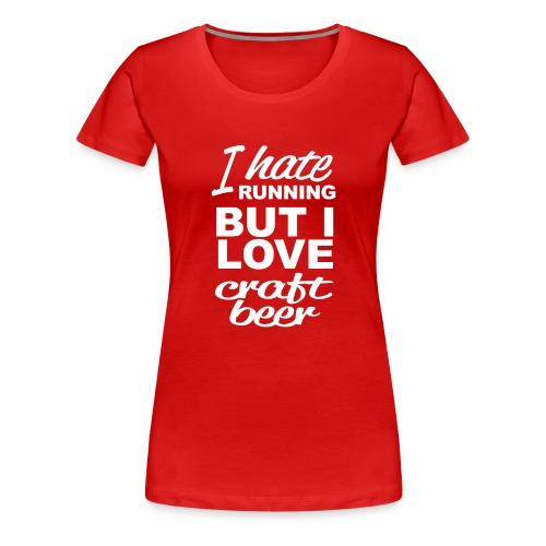 I Love craft beer - Vrouwen Premium T-shirt