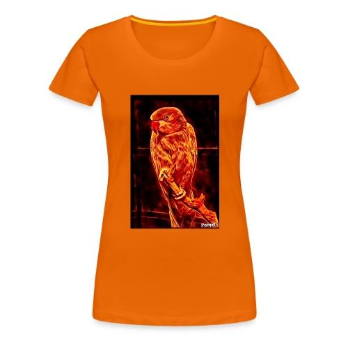 Bird in flames - Naisten premium t-paita