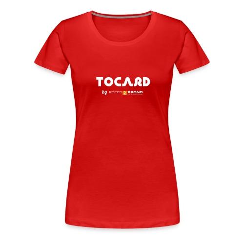 TshirtTocard03 png - T-shirt Premium Femme