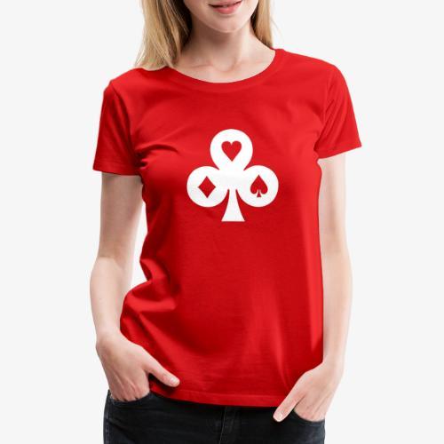 Pokerhelden Kreuz Weiss - Frauen Premium T-Shirt