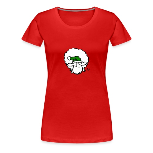 Santa Sheep (green) - Women's Premium T-Shirt