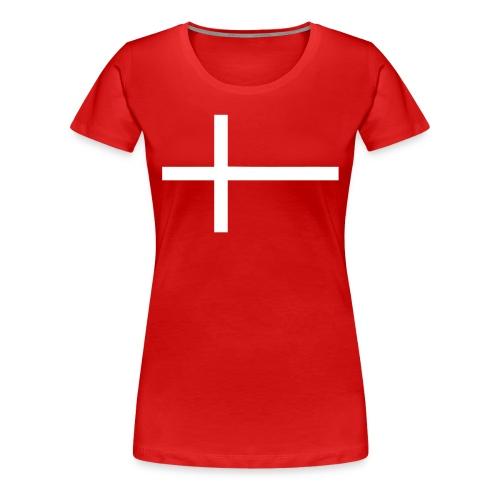 dannebrog - Dame premium T-shirt