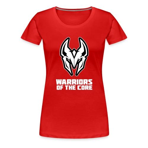 WOTC logo 2019 met tekst onder - Vrouwen Premium T-shirt