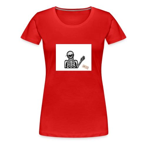 MLG Skelett tappar mobilen - Premium-T-shirt dam