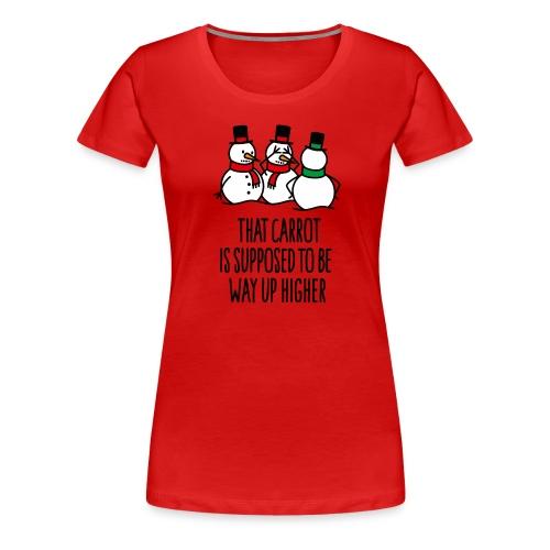 Lustige Weihnachten Geschenk Schneemann Karotte - Frauen Premium T-Shirt