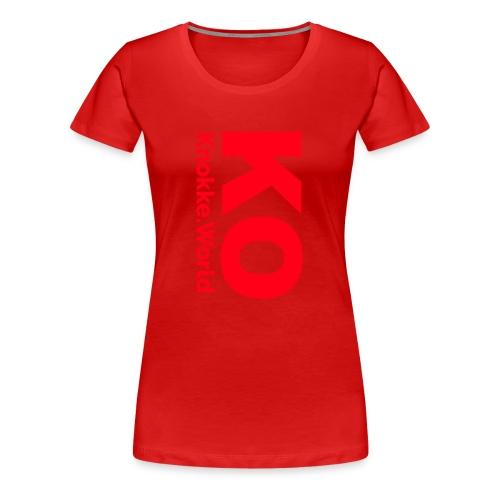 ko hoodie - Vrouwen Premium T-shirt