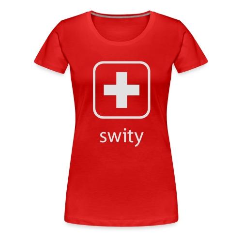 Schweizerkreuz-Kappe (swity) - Frauen Premium T-Shirt