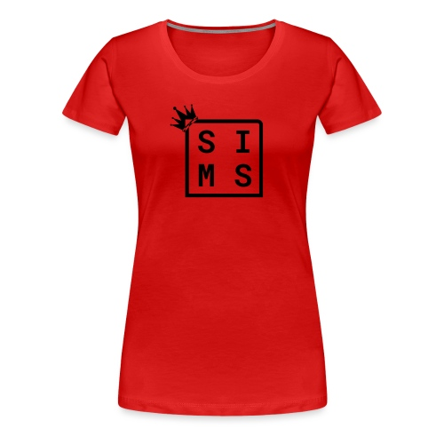 Sims logo black - Women's Premium T-Shirt