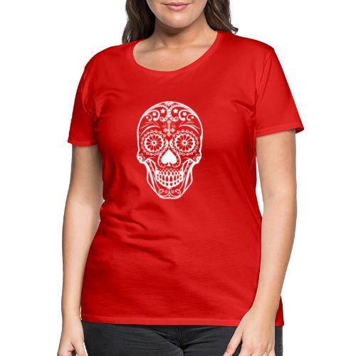 Skull white - Frauen Premium T-Shirt
