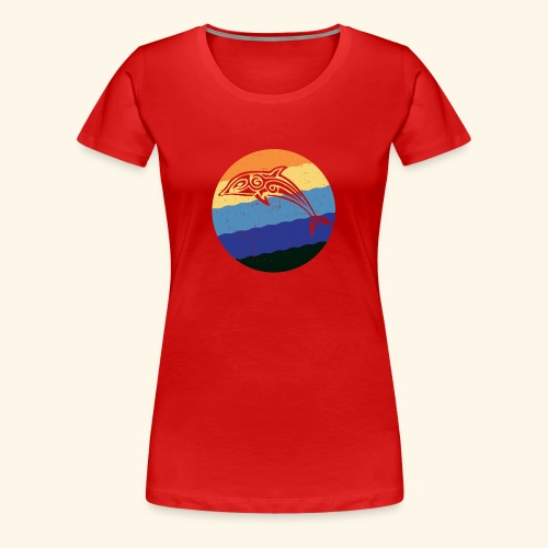 Greek Dolphin Retro - Women's Premium T-Shirt