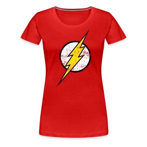 DC Comics Justice League Flash Logo - Frauen Premium T-Shirt