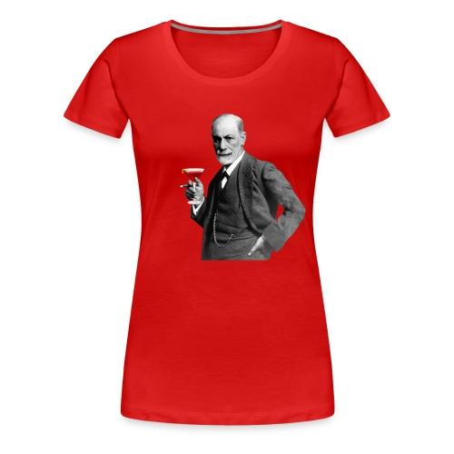 Sigmund Freud mit Cocktail - Frauen Premium T-Shirt