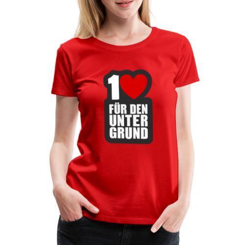 1 Herz für den Untergrund - Logo grau - Frauen Premium T-Shirt