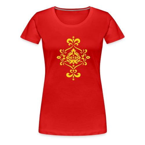 Barock- Blumen Ornament - Frauen Premium T-Shirt