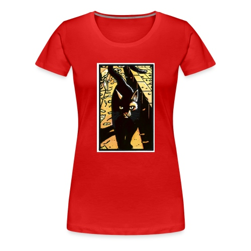 The cat from the Tale of One Bad Rat - Women's Premium T-Shirt