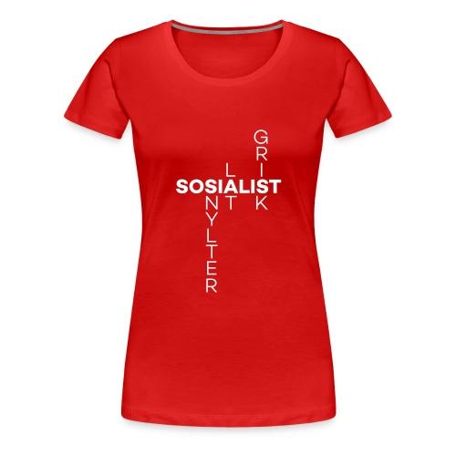 sosialisme - Premium T-skjorte for kvinner