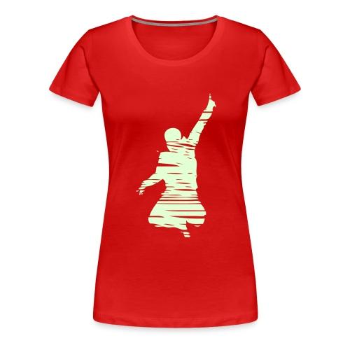 Jumping Man Schraffur - Frauen Premium T-Shirt
