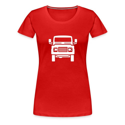 Landie Defender illustration - Autonaut.com - Women's Premium T-Shirt