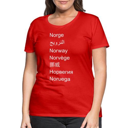 FN-Norge - plagget.no - Premium T-skjorte for kvinner