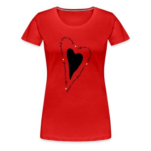 Ullihunde - Herz - Frauen Premium T-Shirt