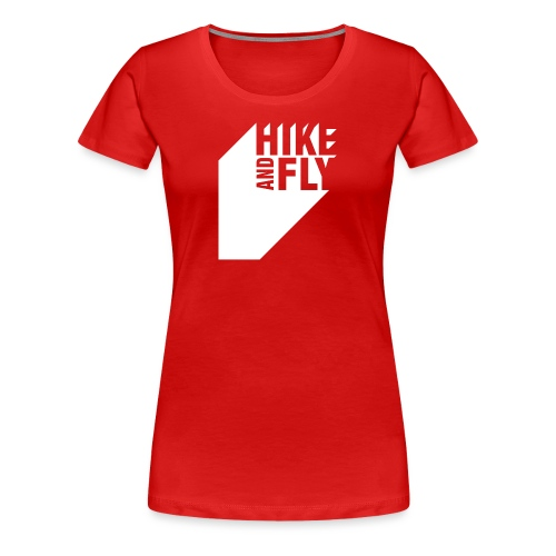 Hike and Fly Paragliding 3D - Frauen Premium T-Shirt