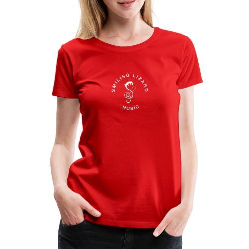 Smiling Lizard Music Logo weiß - Frauen Premium T-Shirt