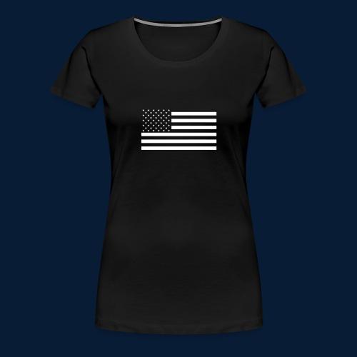 Stars and Stripes White - Frauen Premium T-Shirt