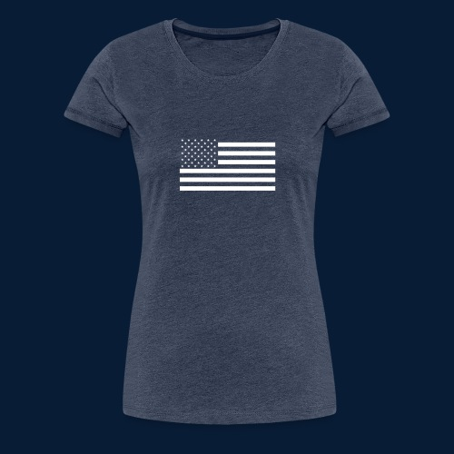 Stars and Stripes White - Frauen Premium T-Shirt