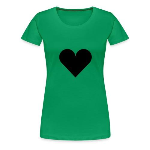 heartplainblack - Naisten premium t-paita