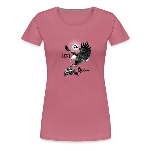 Baldeagle met een panhead - Vrouwen Premium T-shirt